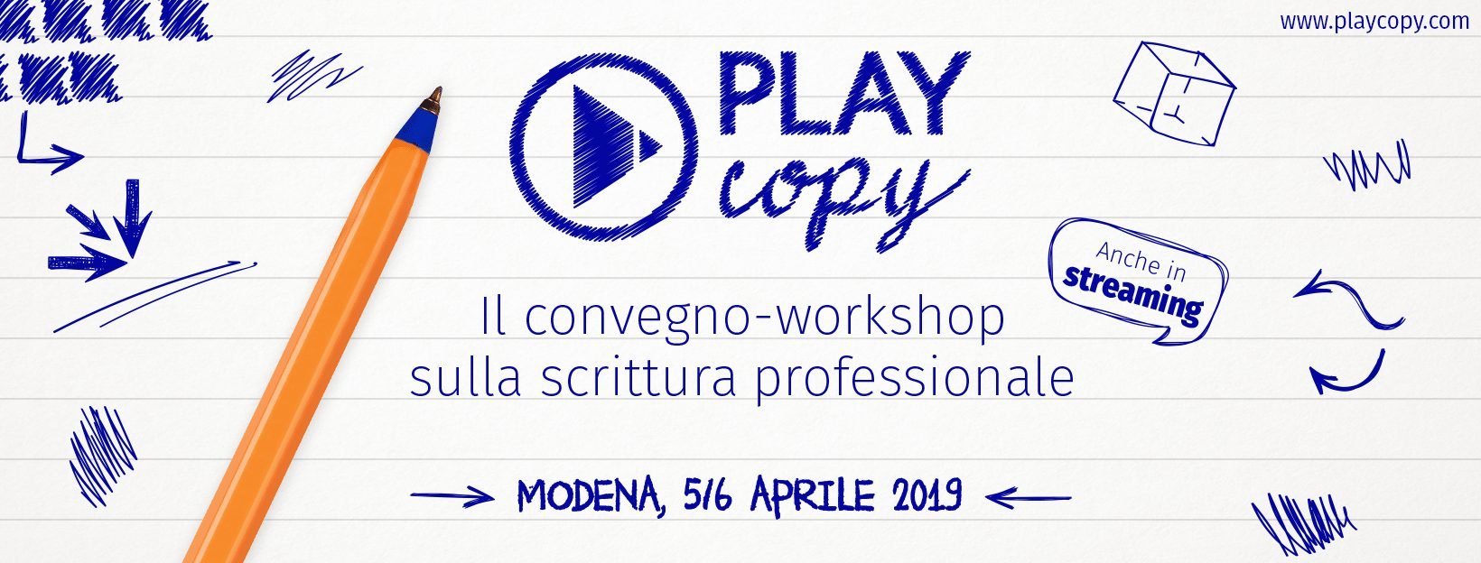 Play Copy 2019: torna il convegno dedicato alla scrittura professionale, con tante buone nuove!